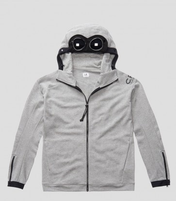 CP Company - Goggle Zip Hoodie in Grey