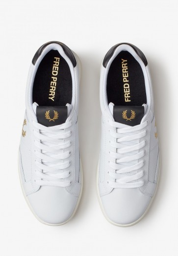 Fred Perry - B200 Leather Shoe in White