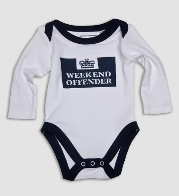 Weekend Offender - Babygrow White