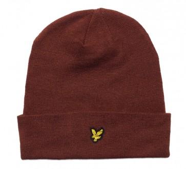 Lyle & Scott - Beanie Hat in Rust