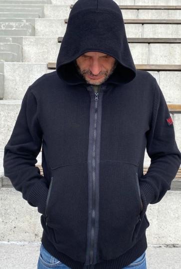 Mathori London - Black Hooded Cardigan AW 20/21