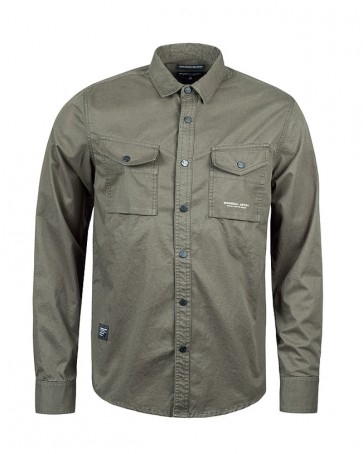 Marshall Artist - Dual Pocket Military Shirt (Military Green)