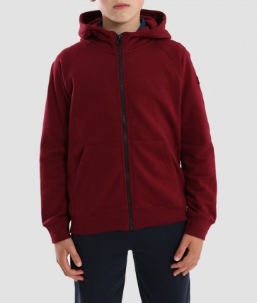Weekend Offender - Kids Hopper Full Zip Sweatshirt (Garnet)