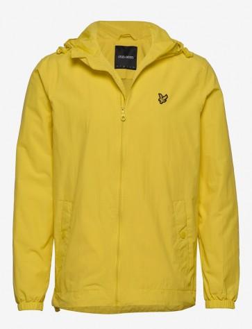 Lyle & Scott - Zip Through Hooded Jacket in Yellow