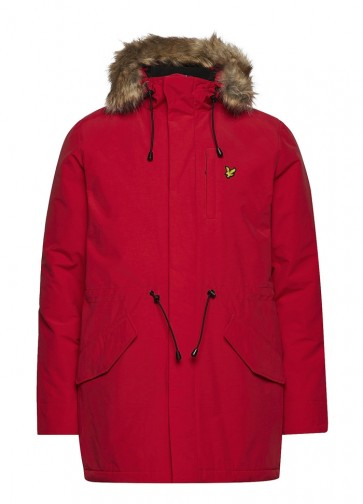 Lyle & Scott - Microfleece Line Parka in Red