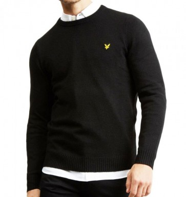 Lyle & Scott - Lambswool Blend Jumper in Black