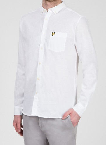 Lyle & Scott - Cotton Linen Shirt in White