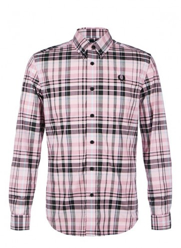 Fred Perry - Check Shirt in Dusty Pink