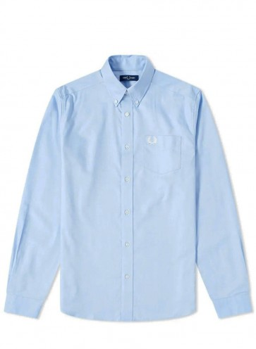 Fred Perry - Longsleeve Shirt in Light Blue