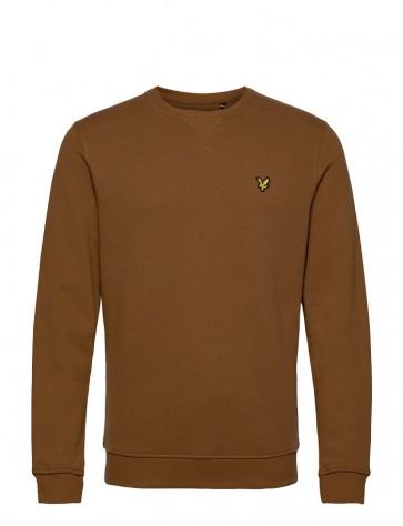 Lyle & Scott - Crew Neck Sweatshirt in Tawny Brown