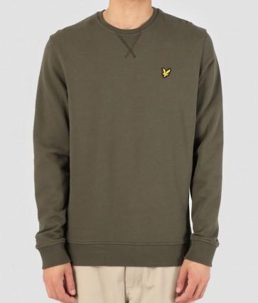 Lyle and Scott - Crew Neck Sweatshirt in Dark Sage