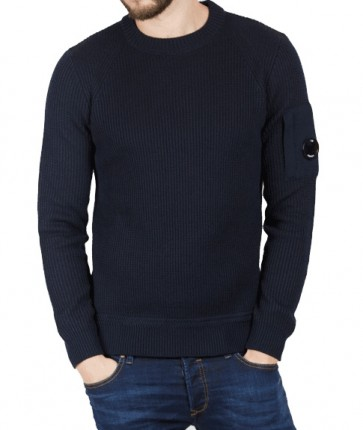 CP Company - Crew Neck Heavy Knit in Navy