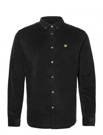 Lyle & Scott - Needle Cord Shirt in Black