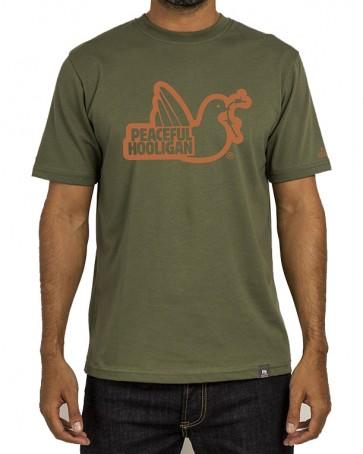 Peaceful Hooligan - Outline Dove T-Shirt (Khaki)
