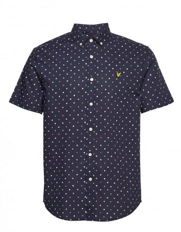Lyle & Scott - Flag Print Short Sleeve Shirt