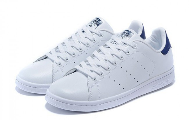 Adidas originali stan smith (bianco / marina) m20325