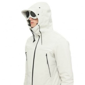 CP Company - Soft Shell Goggle Jacket in White