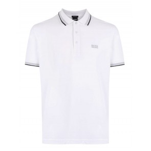 Hugo Boss - Pique Polo in White