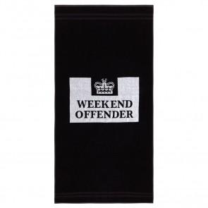 Weekend Offender - Prison Logo Towel (Black)