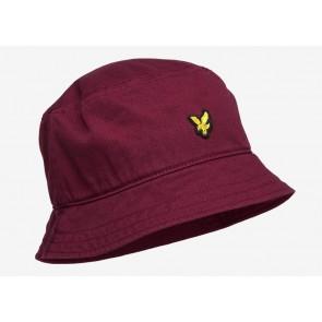 Lyle & Scott - Cotton Twill Bucket Hat (Merlot)