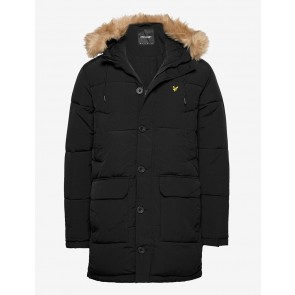 Lyle & Scott - Heavyweight Longline Puffer Jacket in Black
