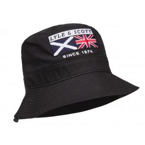 Lyle & Scott - Heritage Zip Bucket Hat in Black