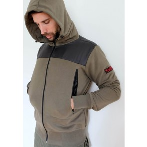 Mathori London - Cotton Hoodie in Olive Green