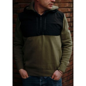 Mathori London - Cotton Knitted Pullover (Olive Green)