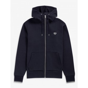 Fred Perry - Full  Zip Hooded Sweatshirt in Navy