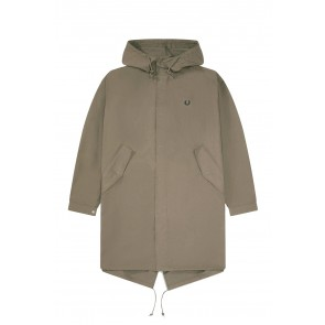 Fred Perry - Fishtail Parka in Military Brown