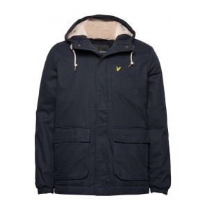 Lyle & Scott - Faux Sheepskin Wadded Jacket in Navy