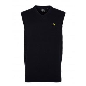 Lyle & Scott - Cotton Merino Vest in Dark Navy