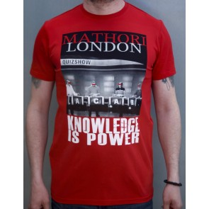 Mathori London - ''Knowledge is Power' T-Shirt in Red