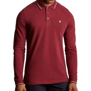 Lyle & Scott - Tipped Polo Shirt in Claret Jug