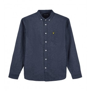 Lyle & Scott - Brushed Twill Shirt in Navy