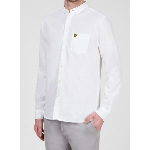 Lyle & Scott - Cotton Linen Shirt in White