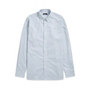 Fred Perry - Gingham Shirt in Sky