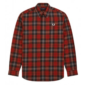 Fred Perry - Bold Tartan Shirt in Red