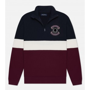 Fred Perry - Half Zip Sweatshirt in Navy