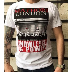 Mathori London - ''KNOWLEDGE IS POWER'' Heavy T-Shirt in White