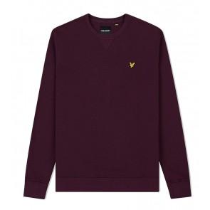 Lyle and Scott - Crew Neck Sweatshirt in Burgundy