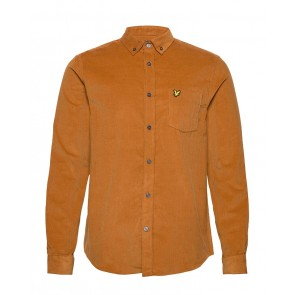 Lyle & Scott - Needle Cord Shirt in Caramel