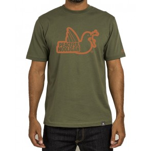 Peaceful Hooligan - Outline Dove T-Shirt (Khaki)
