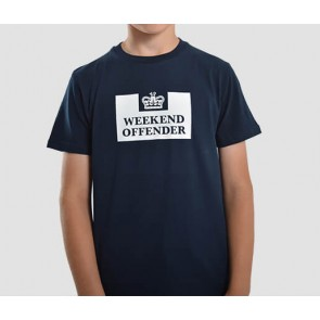 Weekend Offender - Kids Prison T-Shirt (Navy)