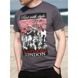 Mathori London - Riot With Style T-Shirt in Grey
