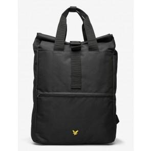 Lyle & Scott - Roll Top Backpack in Black