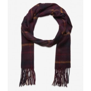 Lyle & Scott - Tartan Lambswool Scarf in Burgundy