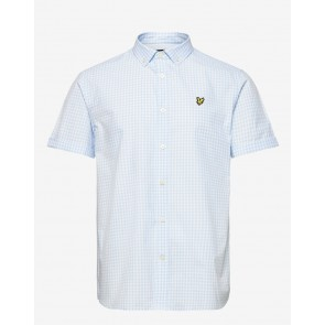 Lyle & Scott - SS Gingham Shirt in Deck Blue