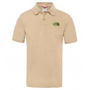 The North Face - Piquet Polo Shirt in Beige